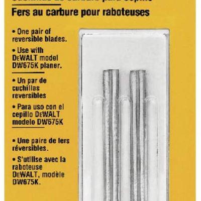 New DEWALT DW6658 Carbide Replacement Blades
