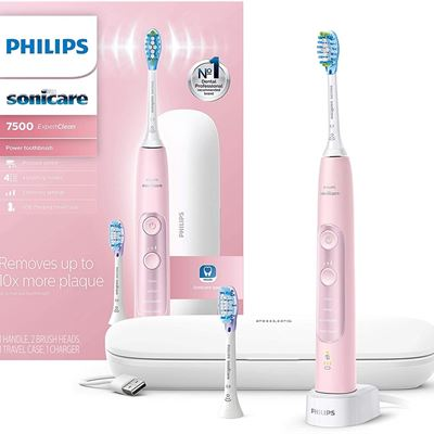 Philips Sonicare EXpertclean 7500 Pink, Rechargeable Electric Power Toothbrush, HX9690/07 (Amazon Exclusive)