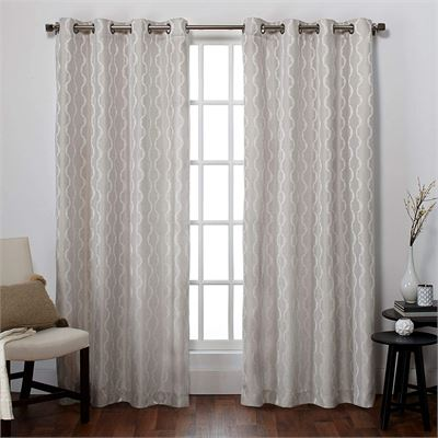 New Exclusive Home Curtains Baroque Grommet Top Panel Pair, Dove Grey, 54x96, 2 Piece