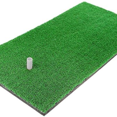"""12""""x24"""" Golf Mat, Practice Hitting Mat with Rubber Tee Holder Realistic Grass Putting Mats Portable Outdoor Sports Golf Training Turf"""