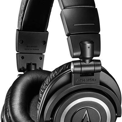 New Audio-Technica ATH-M50xBT Wireless Bluetooth Over-Ear Headphones, Black